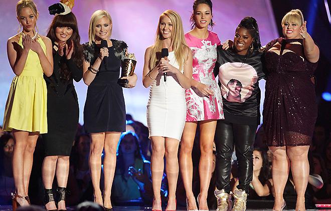 """Съемочная группа """"Идеального голоса"""" на MTV Movies Awards"""