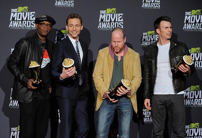 Съемочная группа Мстителей на MTV Movie Awards