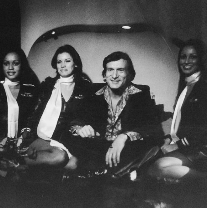 "<p style=""text-align: center;"">Модели Playboy в форме стюардесс. 1970.</p>"
