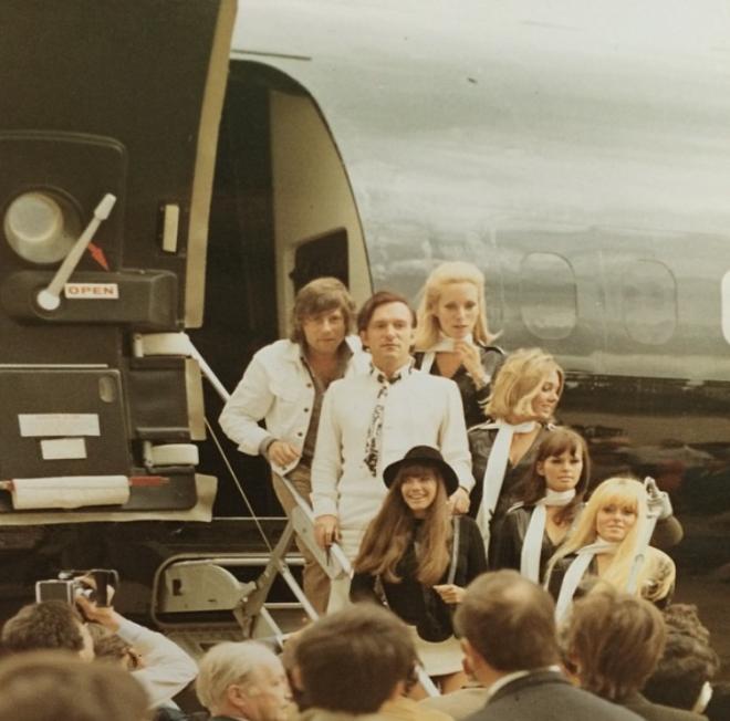 """<p style=""""text-align: center;"""">Визит в Париж вместе с Романом Полански в рамках промо его фильма МакБет. 1972.</p>"""