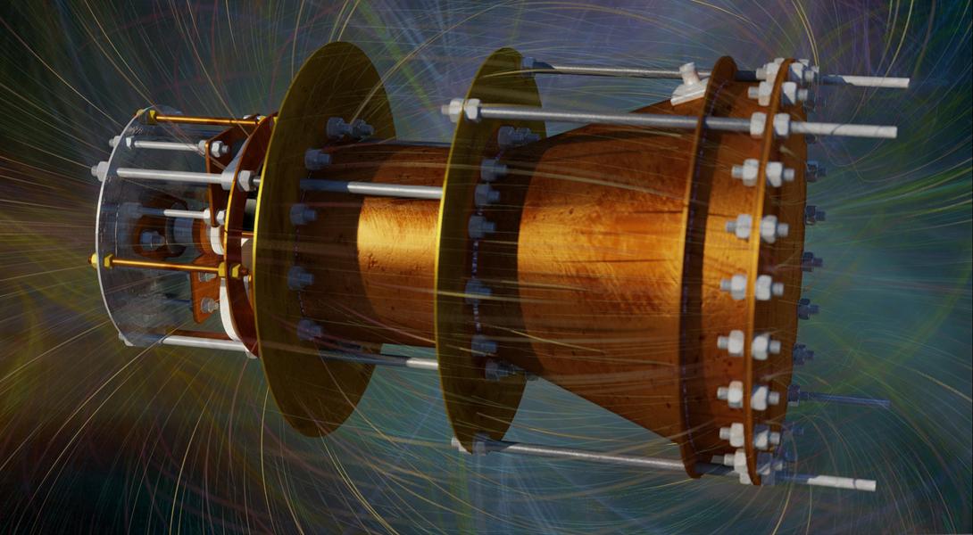 Принцип космического двигателя EmDrive очень прост. Магнетрон (аналогичный тем, что стоят в наших микроволновках) генерирует электромагнитные волны, которые распространяются по волноводу – тому самому «ведру» с крышками по торцам.