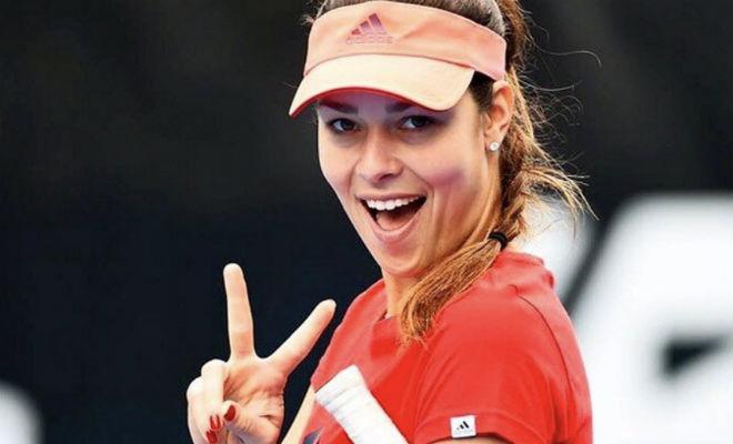 Красивая сербская теннистка