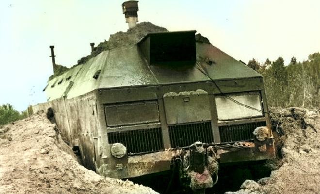 Советский бункер на колесах: самовыкапывающаяся бронемашина Редут