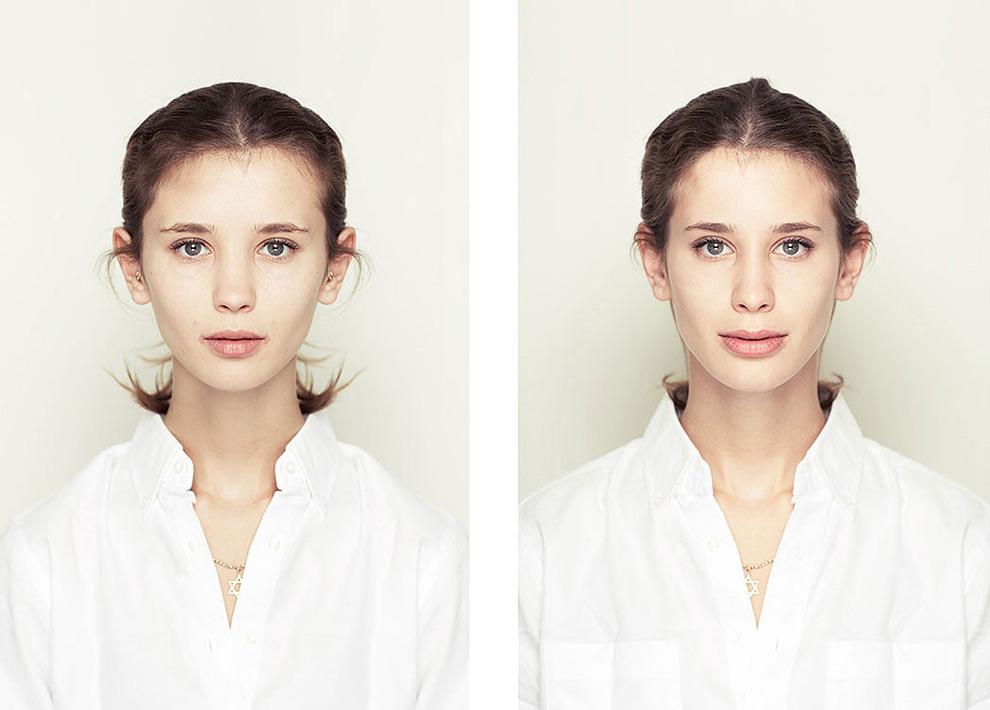 Люди которые фотографируют правую часть лица