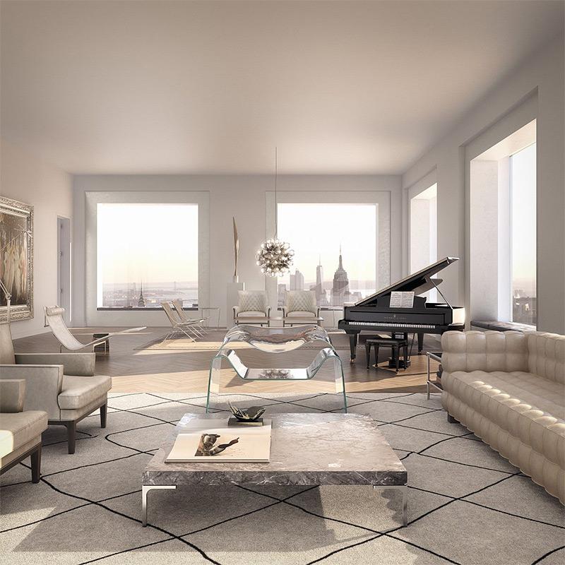 Стоимость квартир в 432 Park Avenue начинается с 7 миллионов долларов.