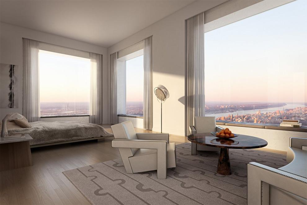 Самые фантастические виды обеспечивает хозяйская спальня. Здесь можно в буквальном смысле заглянуть за горизонт.