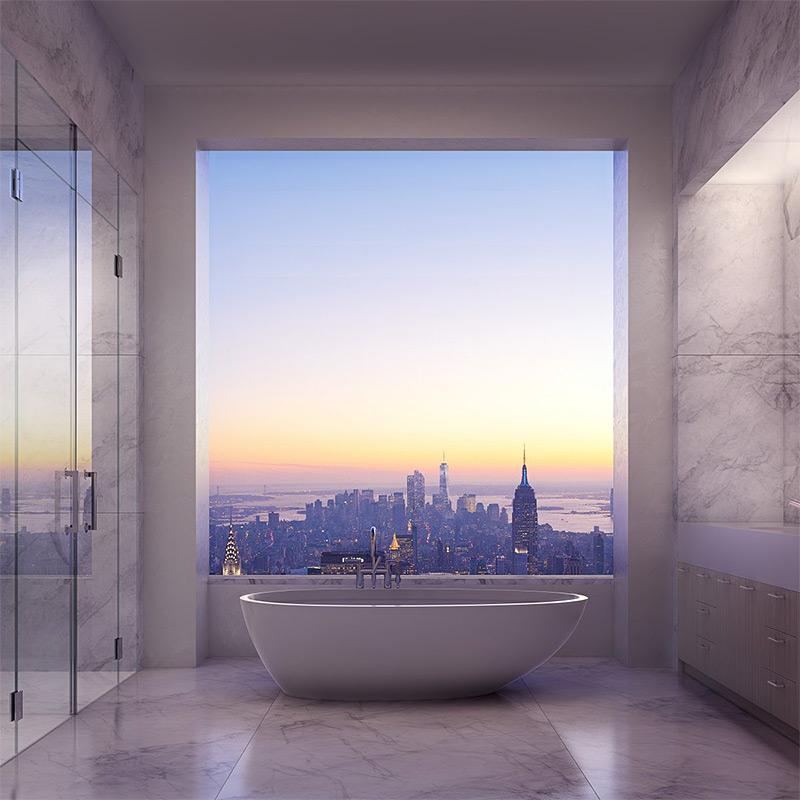 Нью-Йорк будет сопровождать хозяев даже в ванной.