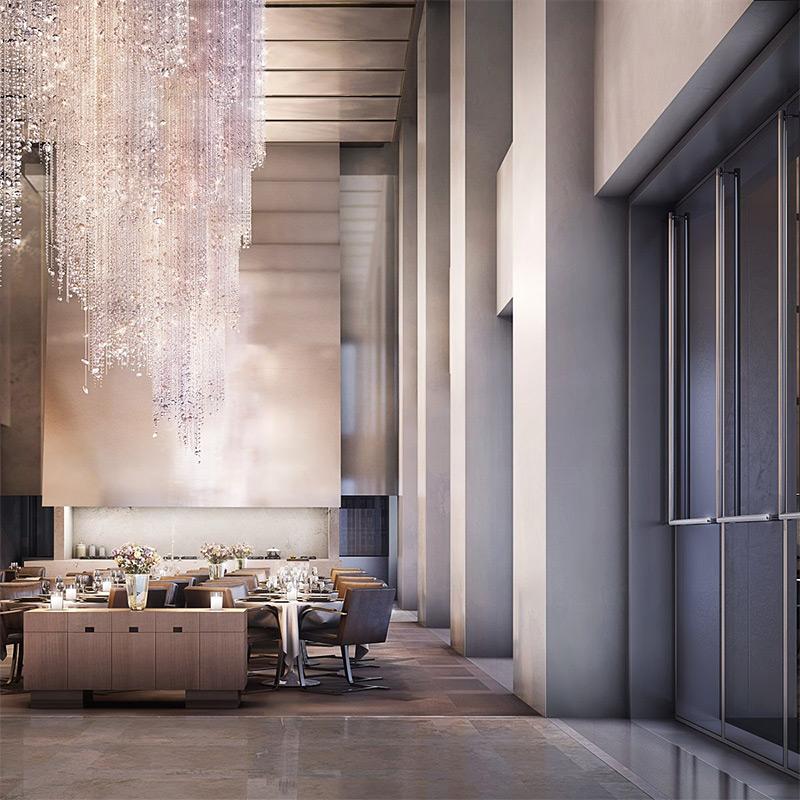 Было бы удивительно, если бы в 432 Park Avenue не было всего, что нужно для жизни. При желании жильцы могут спуститься в ресторан, расположенный на первом этаже комплекса.