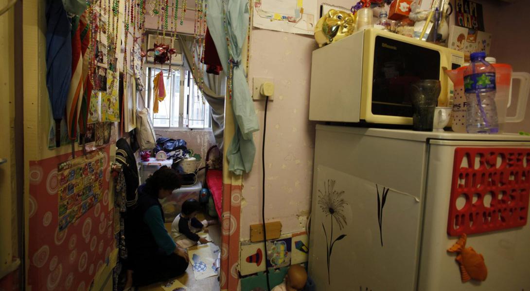 Мать-одиночка Мишель Вонг вытянет эту вписку площадью 24 квадратных метра за 387 штатских долларов в месяц.
