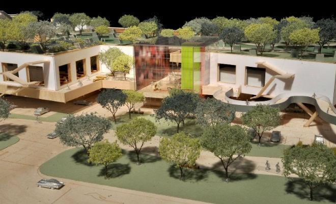 Новая штаб-квартира Facebook в Пало-Альто