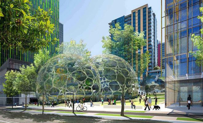 Новая штаб-квартира Amazon в Сиэттле. Проект NBBJ