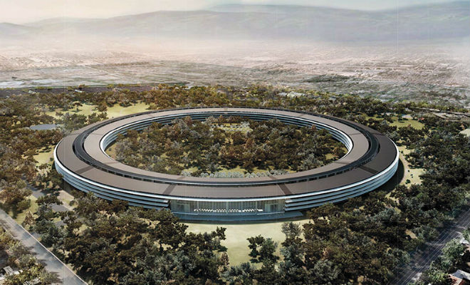 Новая штаб-квартира Apple в Купертино. Проект Нормана Фостера
