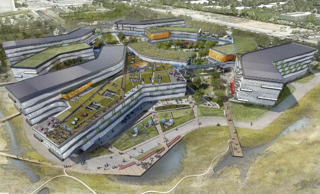 Новая штаб-квартира Googleplex Bay View. Проект NBBJ