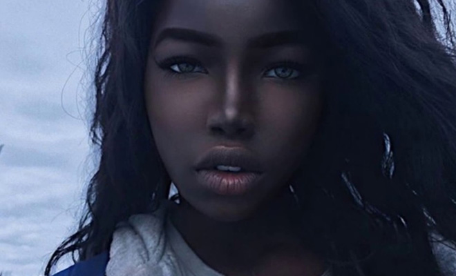 девушка черная фото