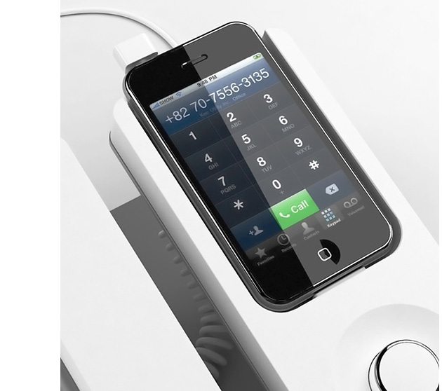 дизайн, промышленный дизайн, Apple, Desk Phone Dock, iPhone