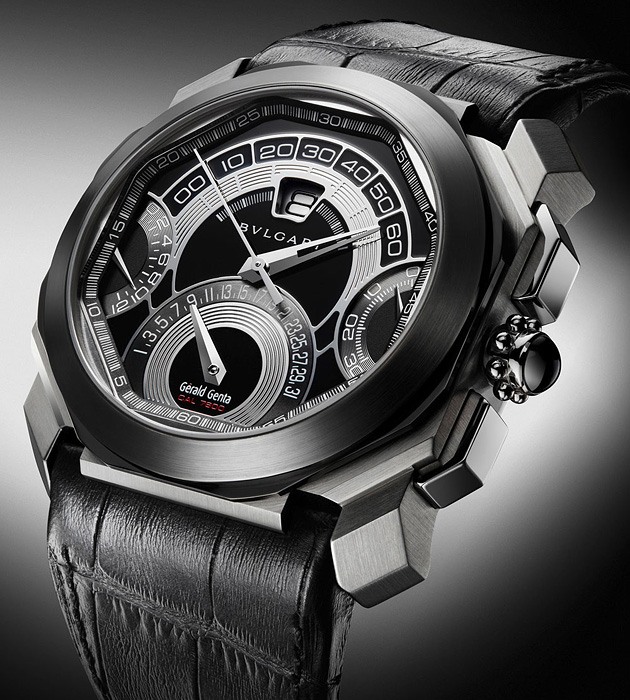 Часы Bvlgari Octo Quadri-Retro Chronograph Gerald Genta Collection, Baselworld 2011