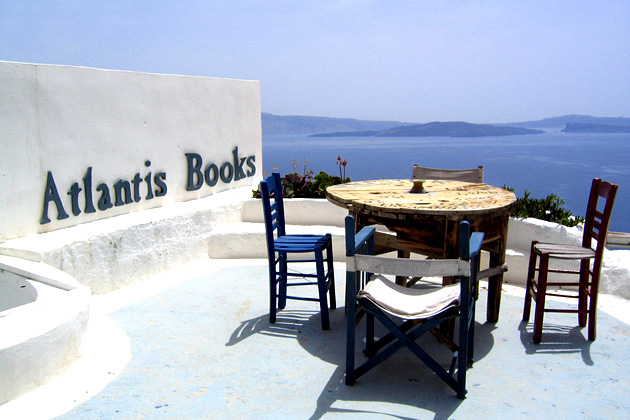 Atlantis Books, Санторини, Греция