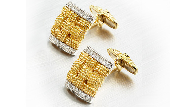запонки, Roberto Coin, Roberto Coin Magnifica Diamond Cuff Links