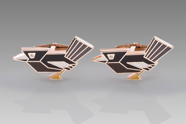 Paul Smith Art Deco Bird Cufflinks