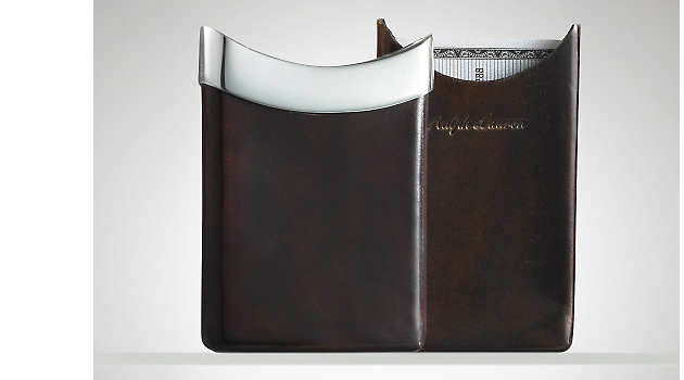 визитницы, Ralph Lauren, Ralph Lauren Leather Slider Card Case
