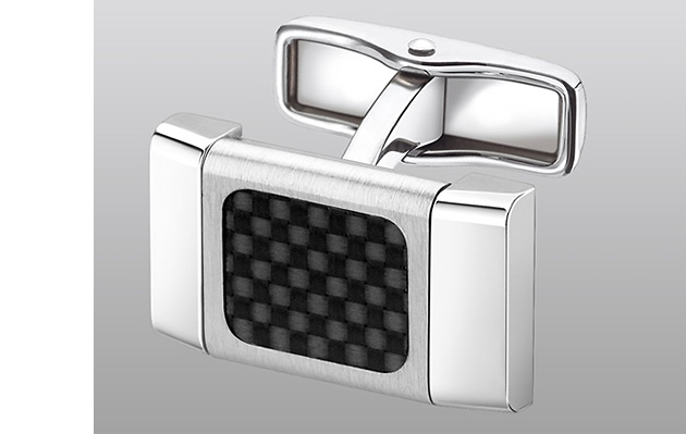 запонки, Dunhill, Dunhill Rotating Buckle Carbon Fibre Cufflink