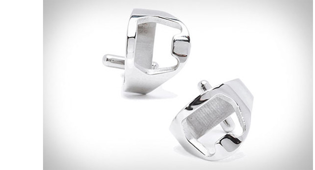 запонки, Stainless Steel Bottle Opener Cufflinks