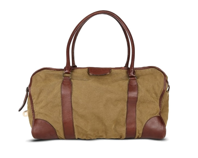 Burberry Stonewashed Canvas and Leather Holdalls
