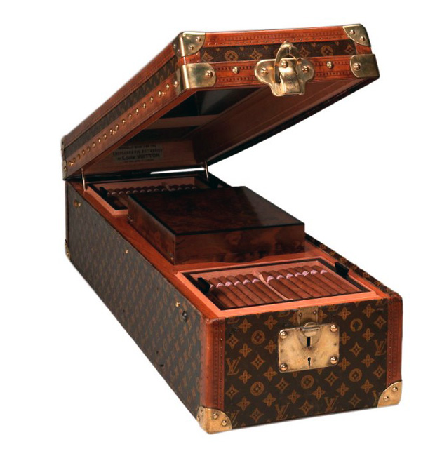 хьюмидор, сигары, Louis Vuitton, Louis Vuitton Encyclopaedia Trunk Humidor