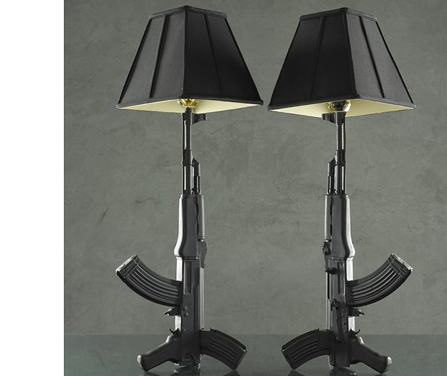 AK-47 Ceramic Lamps