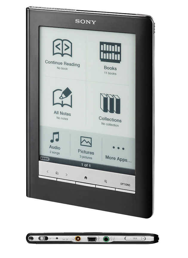 Sony Reader Touch Edition (PRS-600), гаджеты, букридеры, Sony, Sony Reader Pocket, Sony Reader Touch