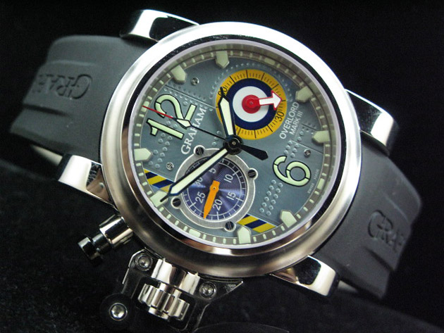 Graham Chronofighter Oversize Overlord Mark III, часы, дайвинг
