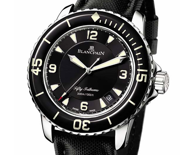 Blancpain Fifty Fathoms, часы, дайвинг