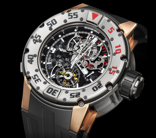 Richard Mille Tourbillon Diver's Chronograph, часы, дайвинг
