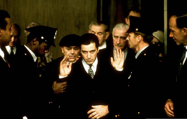 an analysis of the common themes related to international relations in the films the godfather black
