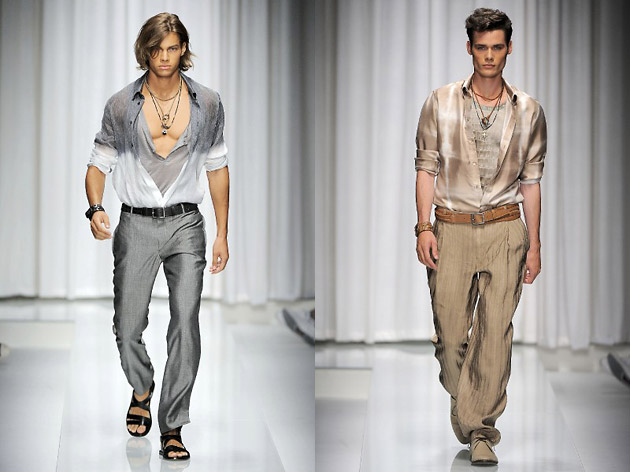 Versace, Milan Fashion Week, весна-лето 2010, fashion-показы, Milano Moda Uomo: игры света