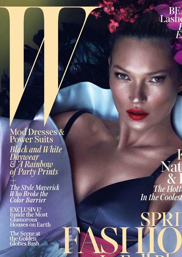 """<p style=""""text-align: center;"""">Для обложки своего мартовского выпуска 2013 года, журналW Magazine вновь пригласил Кейт. Антураж и съемка – все те же мастера ателье Mert & Marcus.</p>"""