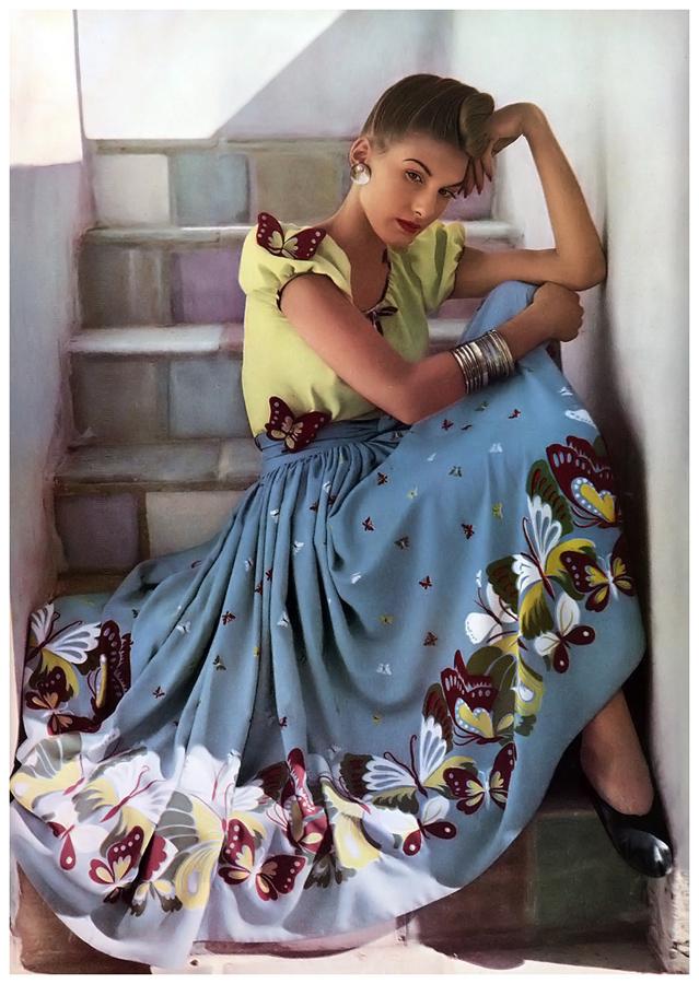 Глянцевая мода 1940-х: цветные снимки лучших мастеров эпохи. ФОТО